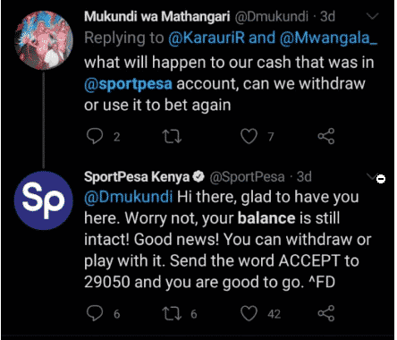 SportPesa payments support