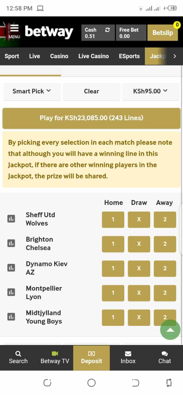 Betway smart pick
