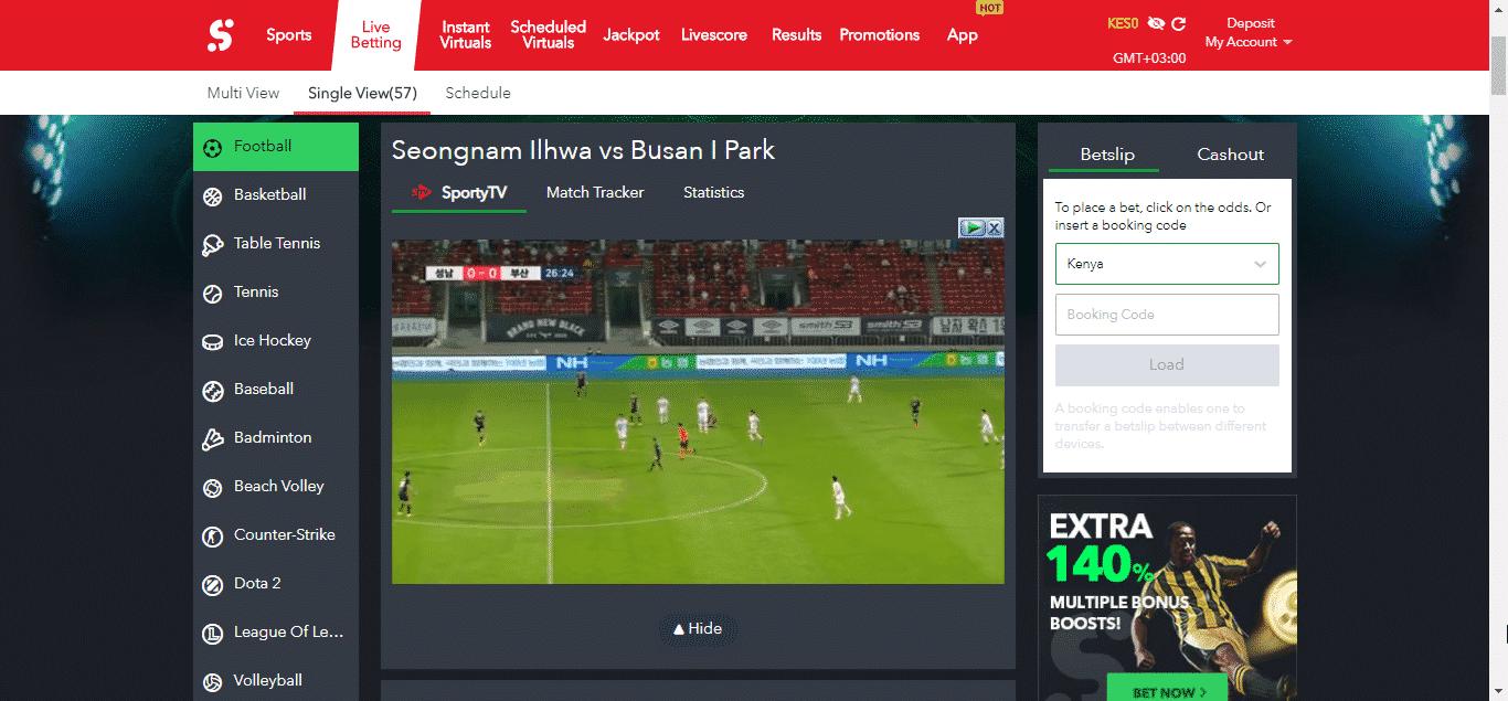 Sportbety Free sports livestreraming screen shot