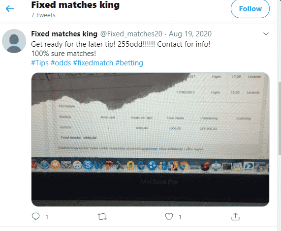 FIXED MATCHES KING