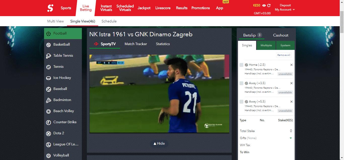 Sportybet livestream