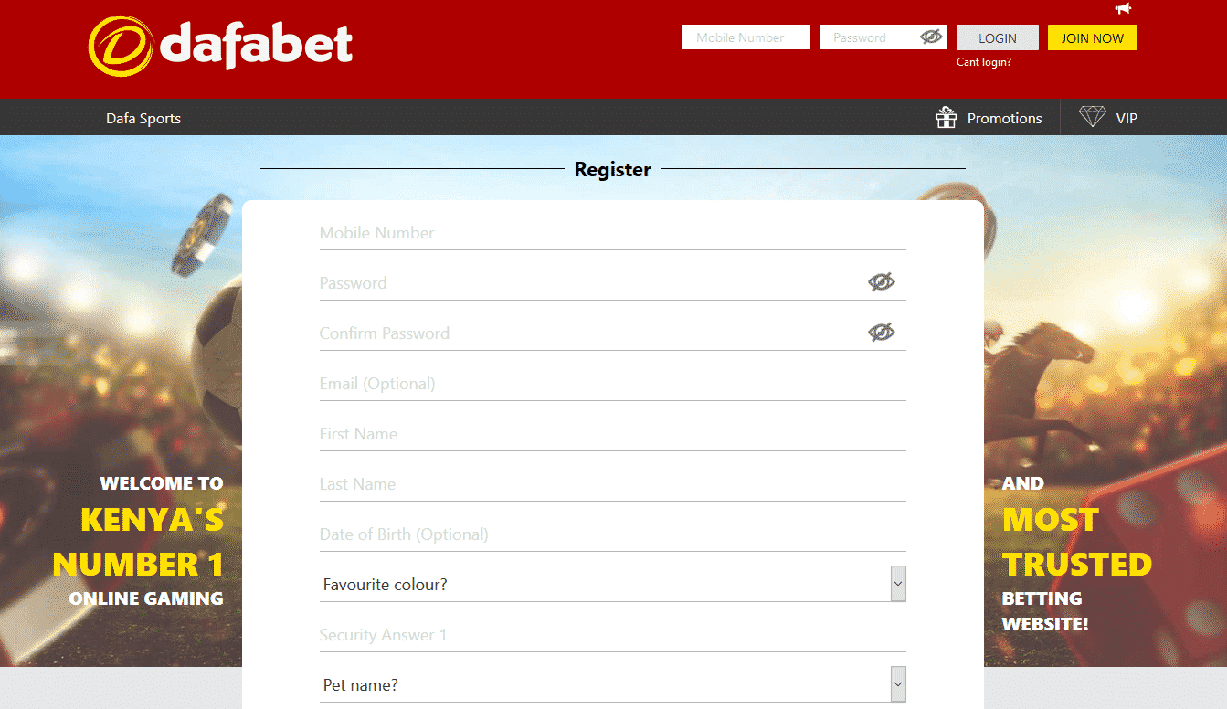 defabet registration