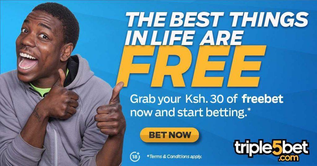 Triple5bet free bets