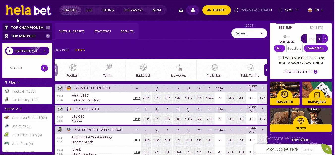 HelaBet platform