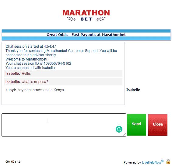 MarathonBet Customer support