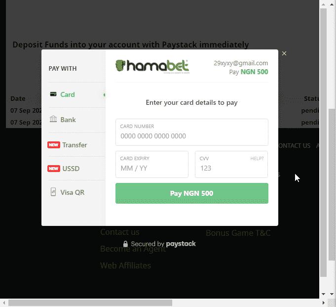 Hamabet how to deposit