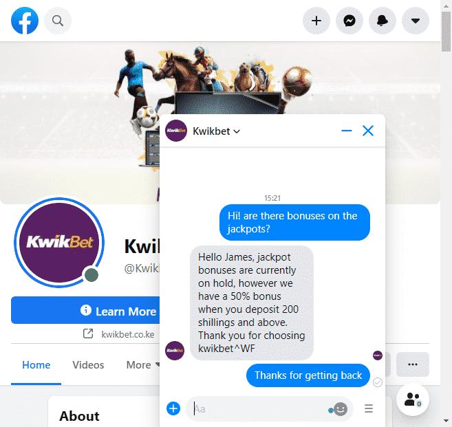 KwikBet customer service