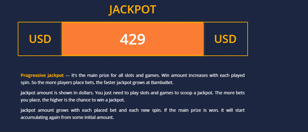 BambaBet Jackpot