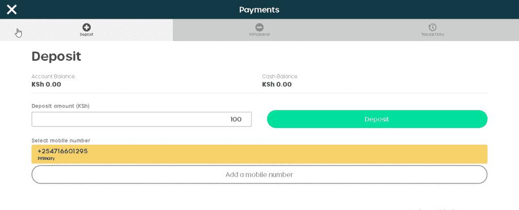 BongoBongo deposit options