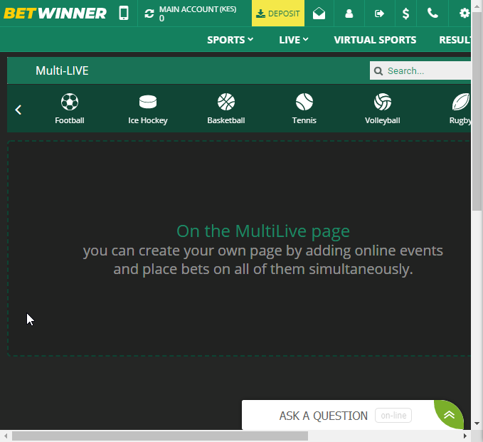 Betwinner multi live feature