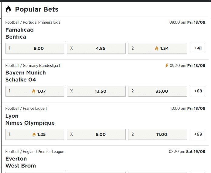 BetPawa popular picks