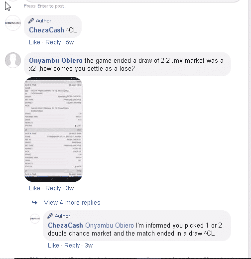 ChezaCash customer support