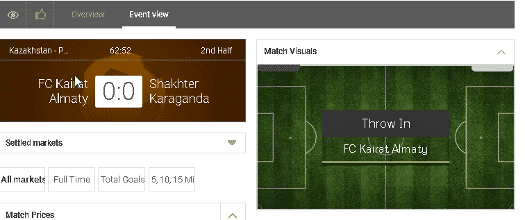 GreatOdds match tracker screen shot