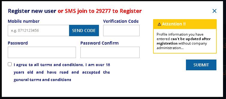 BetSafi registration process