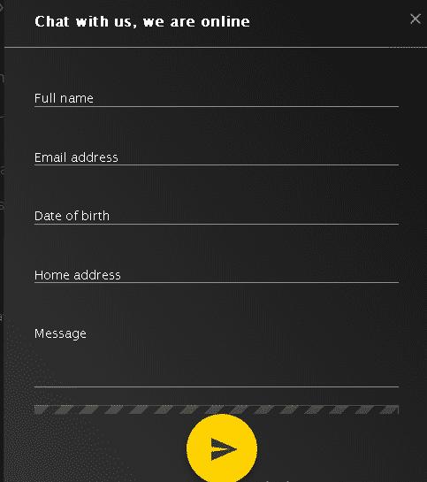 EnergyBet customer support form