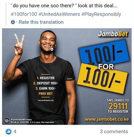 Jambobet promotions