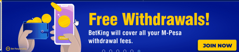 betKing free withdrawals