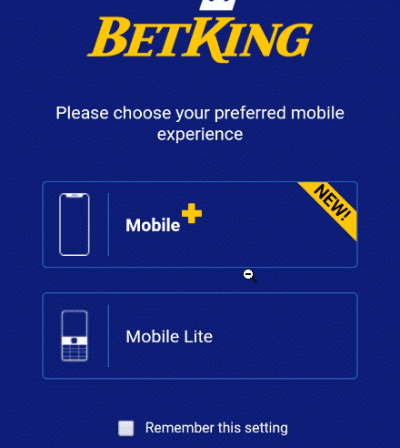 betKing mobile options