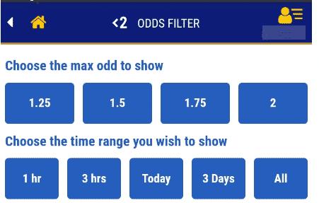 betKing odds filter