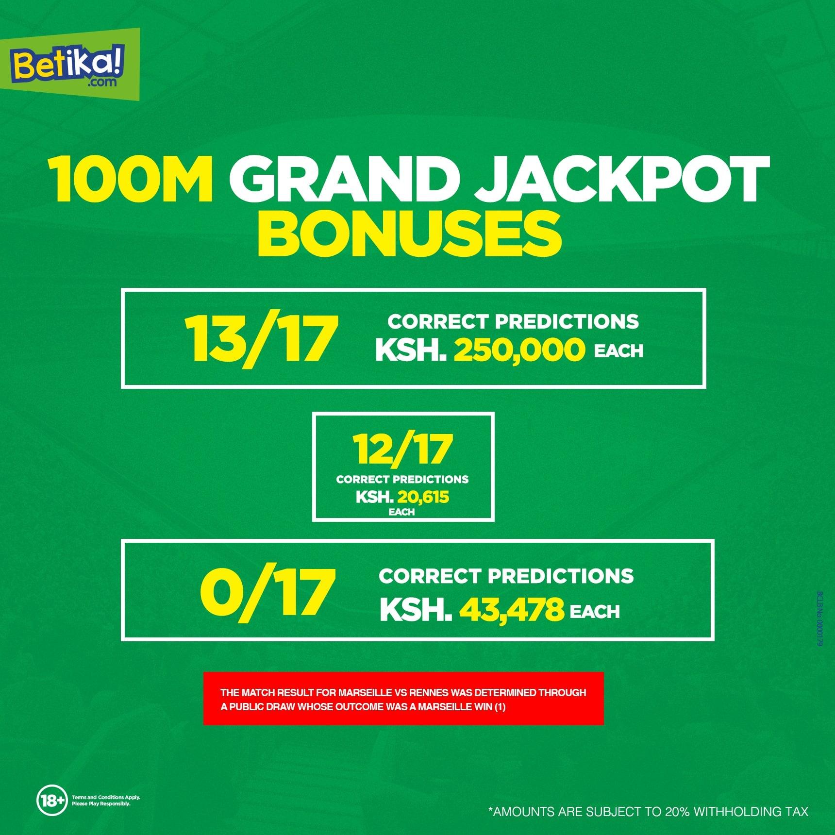 21st Feb Jan Betika Grand Jackpot Predictions