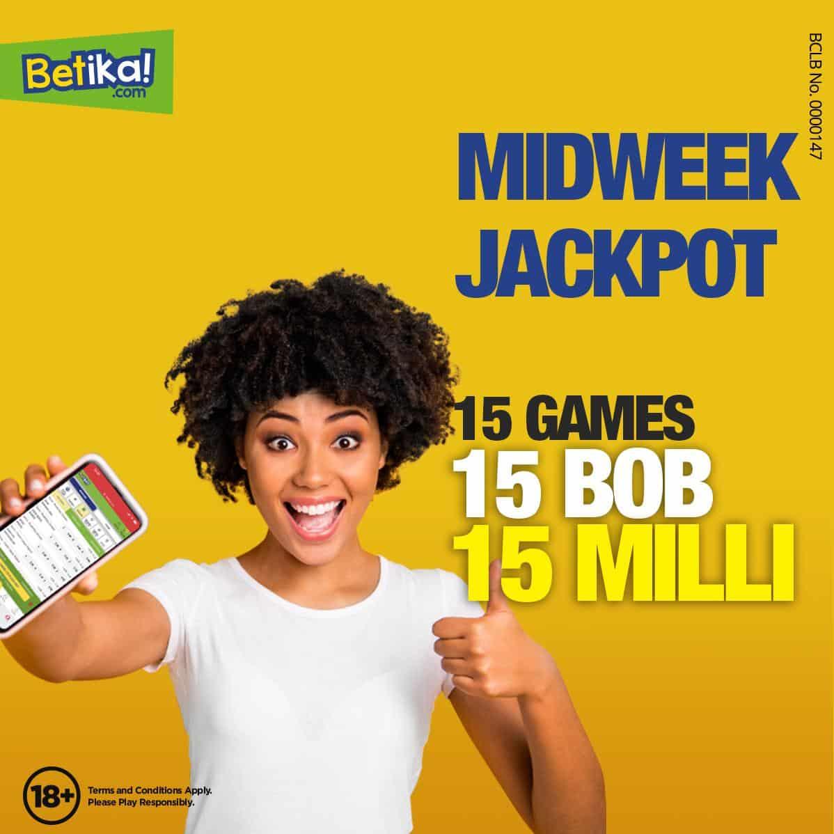 18th July Betika Midweek Jackpot Predictions