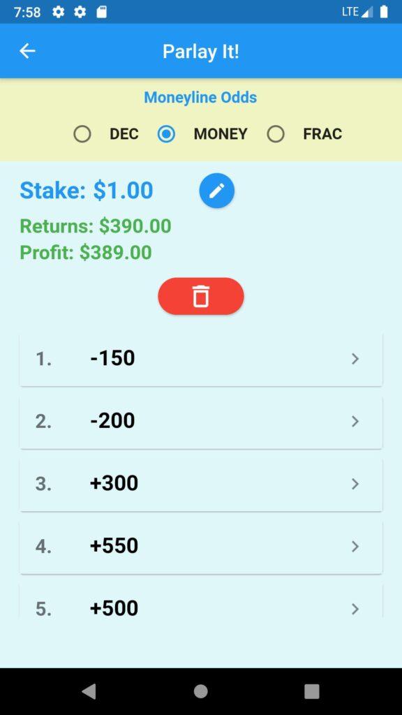 Parlays-Accumulators betting example